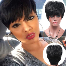 Short Pixie cut Wigs Short Synthetic Wigs For Black Women African American Black hair Wig Perruque