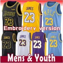 4985b401f 2019 New 23 LeBron James jersey 0 Kyle Kuzma 2 Lonzo Ball 14 Brandon Ingram  24 Kobe Bryant JERSEYS PSG X AJ Basketball Jersey
