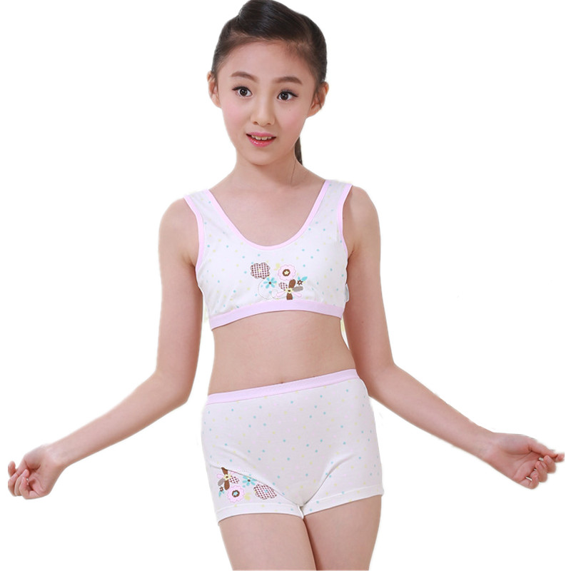 Puberty Teenager Tank Tops Underwear Set For Girls -4949