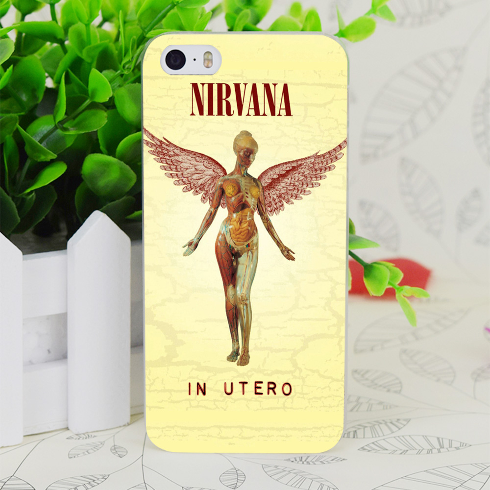 C3907 Funny Nirvana In Utero Transparent Hard Thin Case Skin Cover For Apple IPhone 4 4S 4G 5 5G 5S SE 5C 6 6S Plus