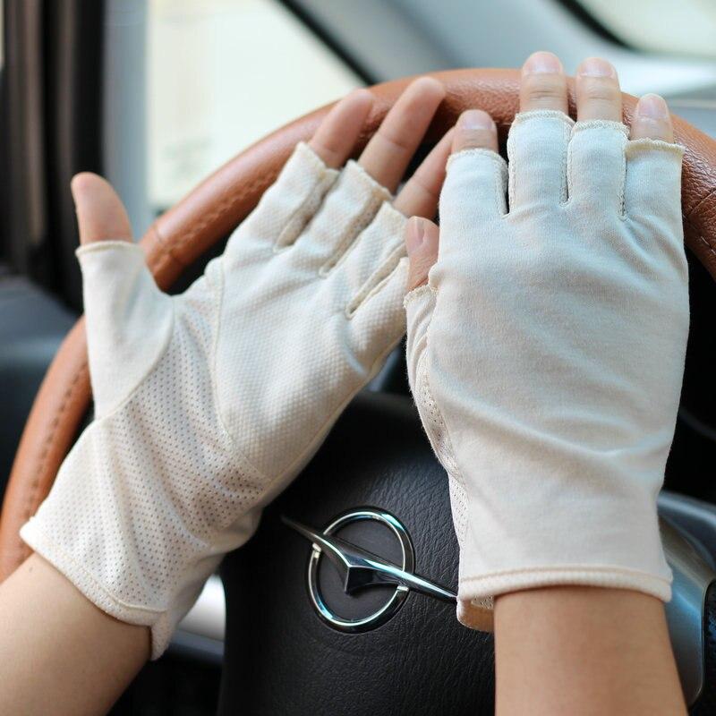 Men 39 s Summer Sunscreen Driving Gloves Half Finger Ultra thin Short Fingerless Non slip Gloves TBWM04 in Men 39 s Gloves from Apparel Accessories