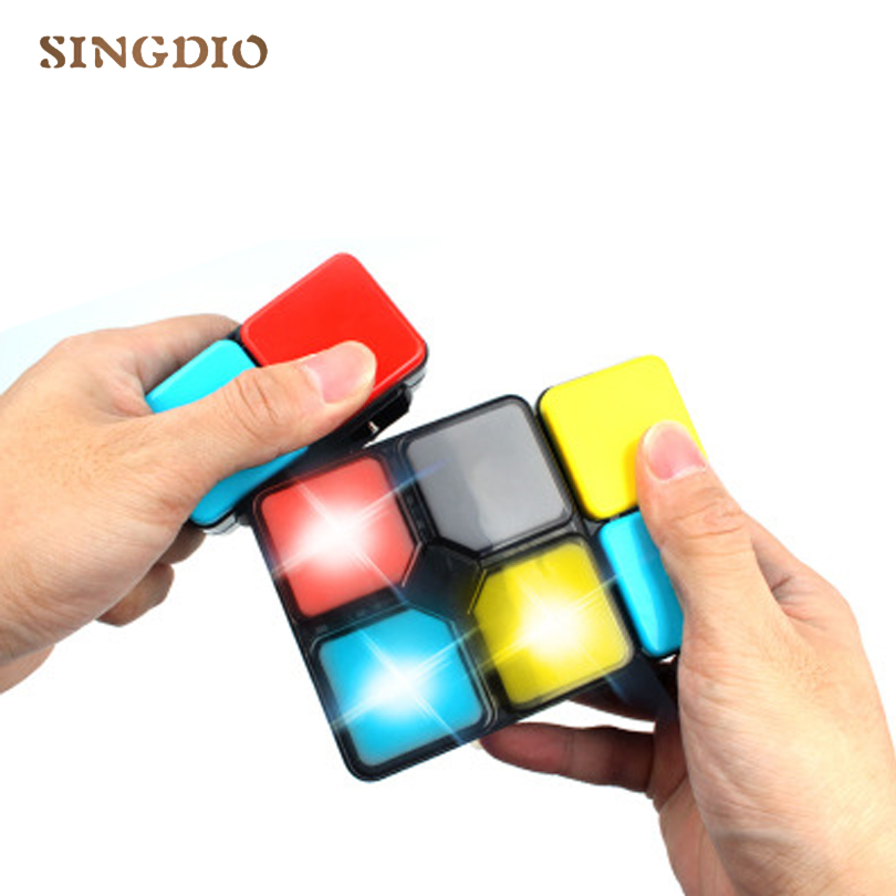 Light electronic music game stress reliever magic cube wisdom toy game machine cube toy new children interactive game toy