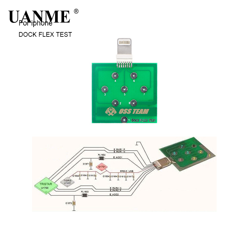 UANME 2Pcs/Lot Mobile Phone Battery Power Charging Dock Flex Test Repair Tools for iPhone  Android Phone