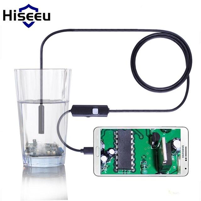 6 LED 5.5 мм 1 М 2 М 3.5 М 5 М Micro USB Android Камера-эндоскоп Водонепроницаемая Камера Инспекции Змея Пробки для Android и ПК