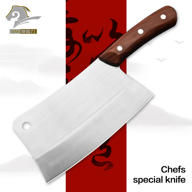 Professional Knife Kitchen Chopping Chef Knives Tool Stainless Steel Wood Handle Bone Cutter Meat Cleaver Slicer Vegetable Knife