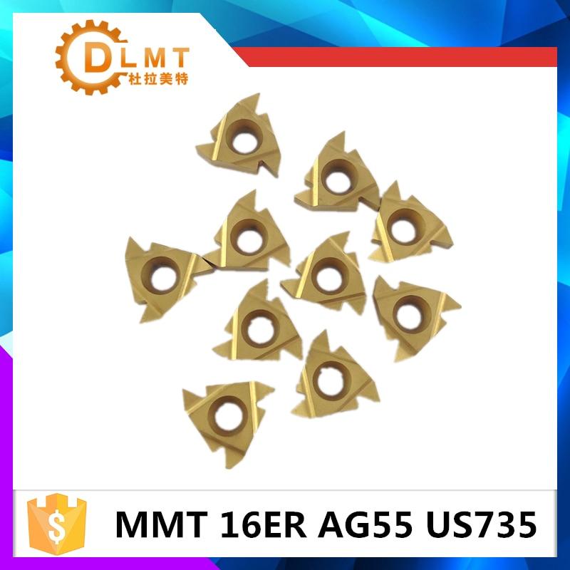 20db MMT 16ER AG55 AG60 US735 Menet esztergáló szerszámok - Szerszámgépek és tartozékok - Fénykép 3