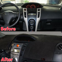 BBQ FUKA 1pc Dashboard Dash Mat DashMat Sun Cover Pad Trim For TOYOTA Yaris 2006 2011