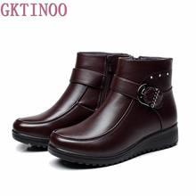 Зимние Повседневные зимние сапоги женские ботильоны теплые нескользкие Женская модная зимняя обувь