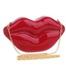 2015 neueste heißer verkauf lip design acryl frauen abendtaschen clutch kleinen geldbeutel halter handtaschen rot/schwarz farbe für hochzeit