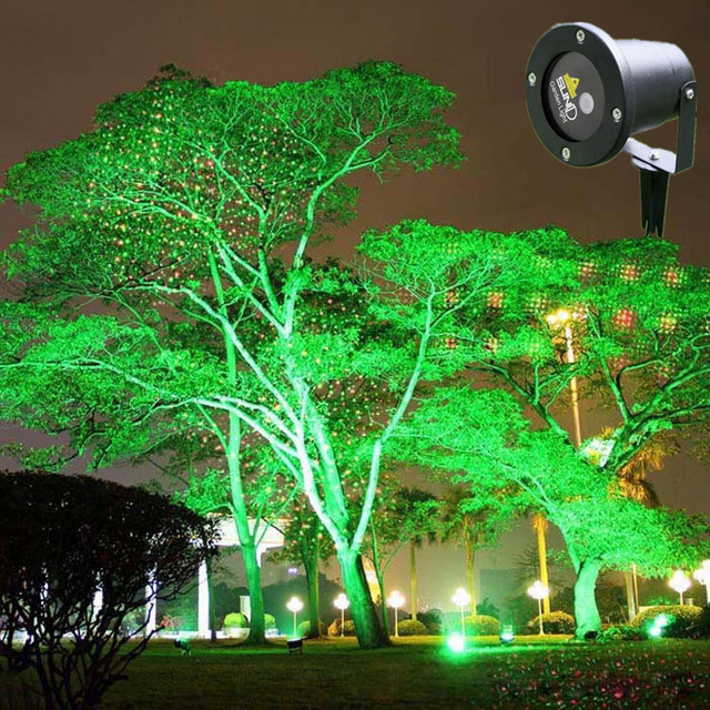 Remote Laser Lighting Green And Red Color Waterproof Garden Landscape For Home Park Christmas Festival