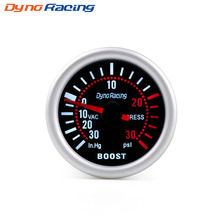 цена на Dynoracing 2'' 52mm Universal Smoke Len Turbo Boost Gauge PSI Pointer Boost Gauge 12V LED Digital Gauge Meter Car gauge BX101309