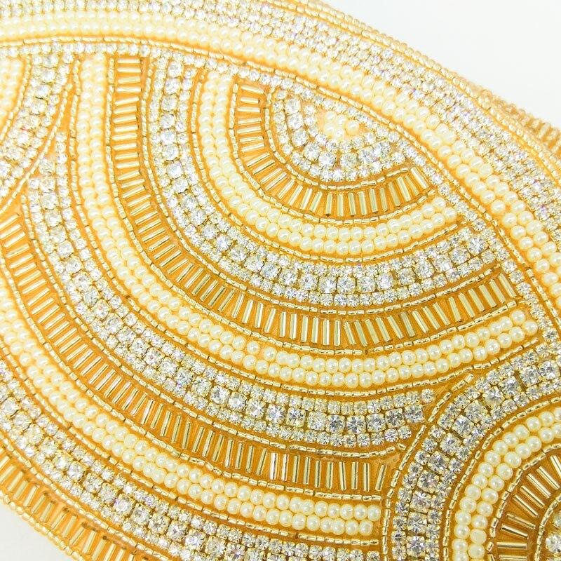 Soirée Indien Bal La Enveloppe Boutique Or Partie or Perlé Sac De Mariage Femmes Élégant Noir D'embrayage Fgg Cristal À Main nxvZS