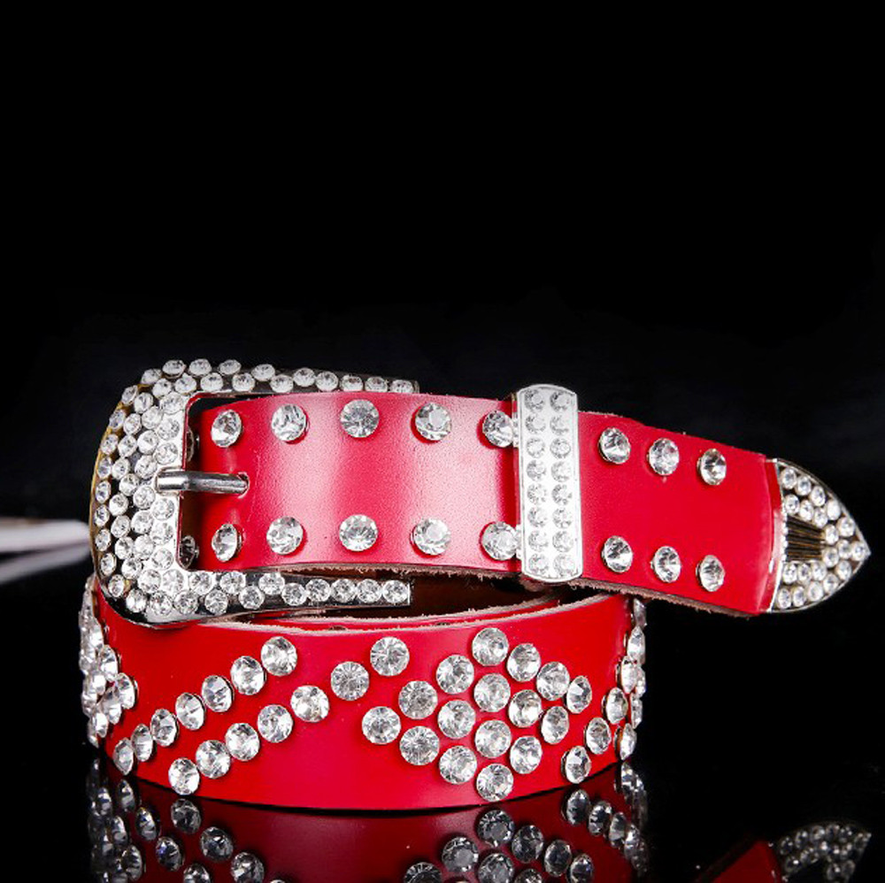 Wholesale Atlas western cowgirl bling cowgirl belt clear rhinestone ... d5c34d80e20d