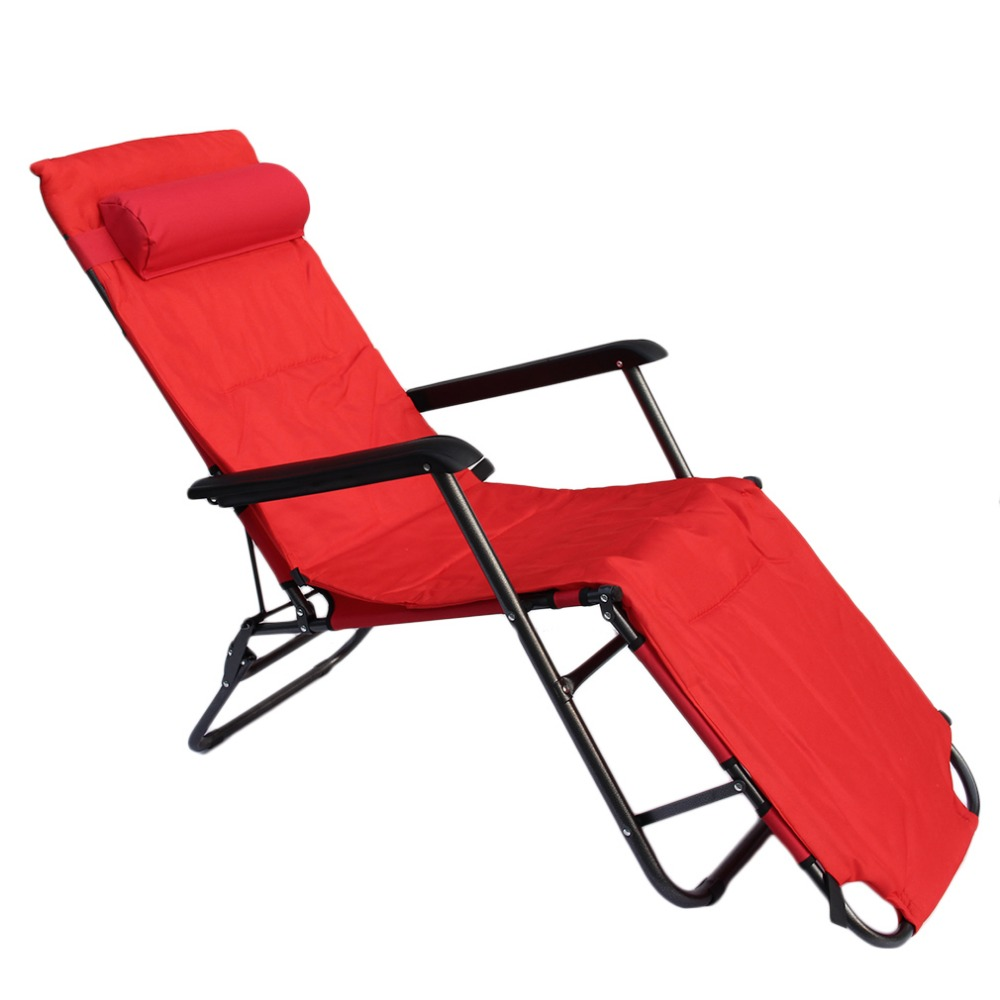 Multifunctional 178*60*88CM Home Garden Recliners Chair Foldable Super Lightweight Lunch Take Fishing Rest Bed Chair