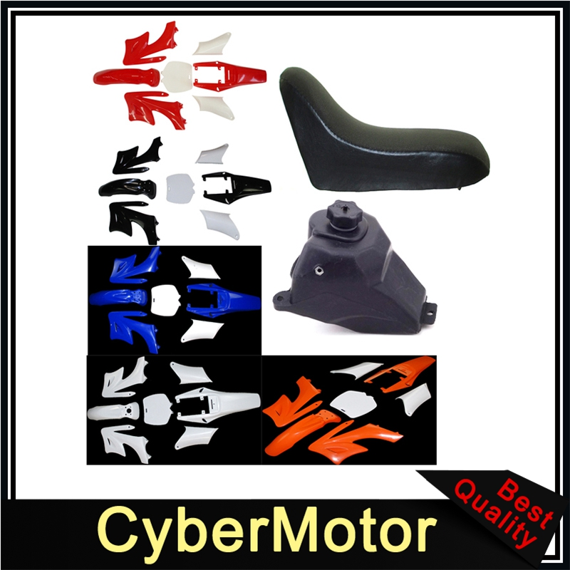 Plastic Fender Fairing Kits Foam Seat Petrol Gas Fuel Tank For Chinese 2 Stroke 47 49cc