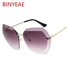 1e6655e74c BINYEAE semi rimless Sunglasses Women brand designer eyeglasses Oversized Sun  Glasses
