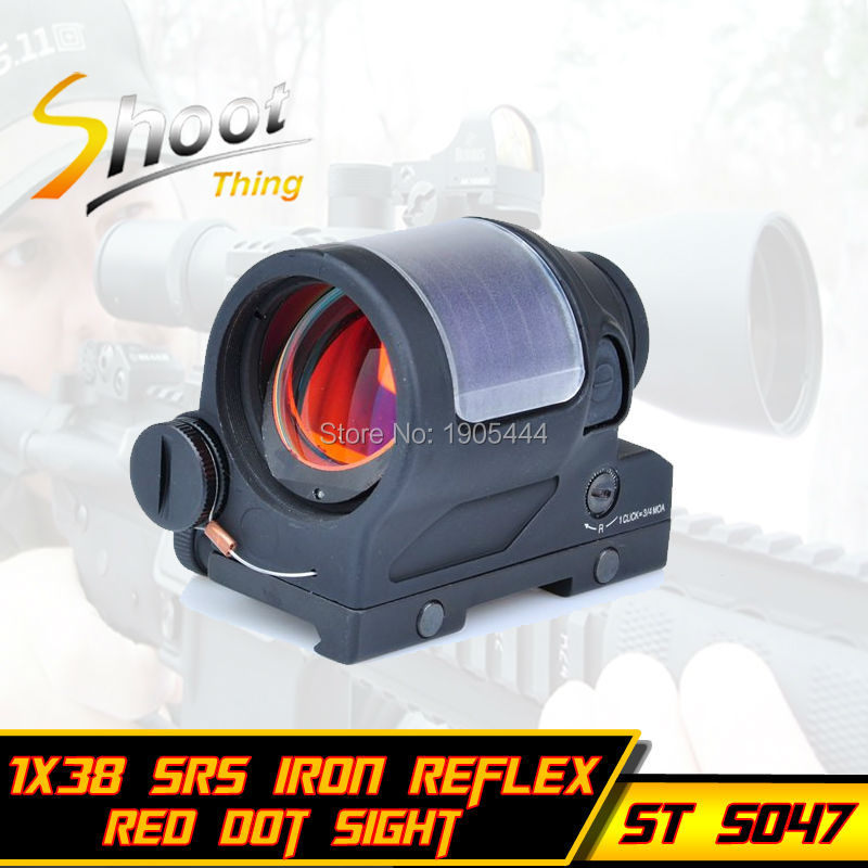 ST 5047 Shoot Thing Hunting Red Dot SRS Iron Reflex 1x38 Sight Scope Optics Riflescope aim o red dot tactical hunting sight scope srs reflex 1x38 iron optics riflescope for airgun ao3040