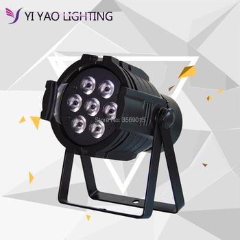 DMX Control LED Par 7x12W RGBW 4IN1 Luxury 8 Channels LED Flat Aluminum Alloy par Light
