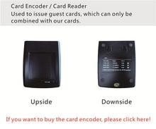 SL16 064 מקודד כרטיס/כרטיס קורא עם מערכת מלון כרטיס RFID מנעול דלת אלקטרונית