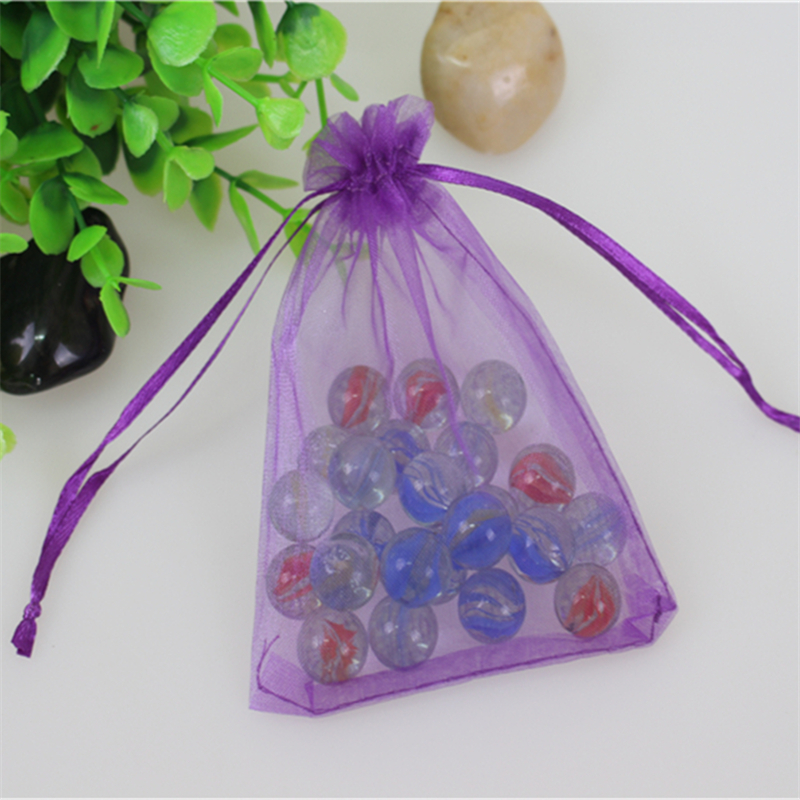 Wholesale 100pcs/lot 13*18cm Purple Organza Jewelry Gift Pouches Favor Wedding Packaging Drawstring Chritmas Organza Bags