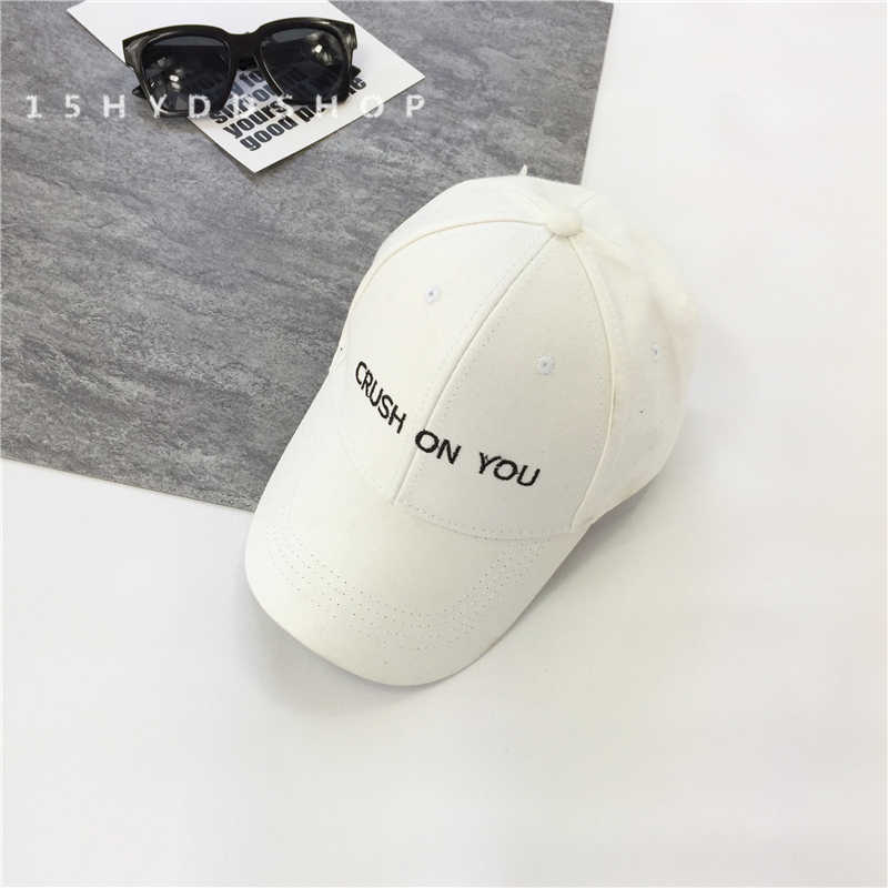 ... unisex fashion dad hat CRUSH ON YOU embroidery cotton adjustable  baseball cap women sun hat men ... 12246b28c0a6