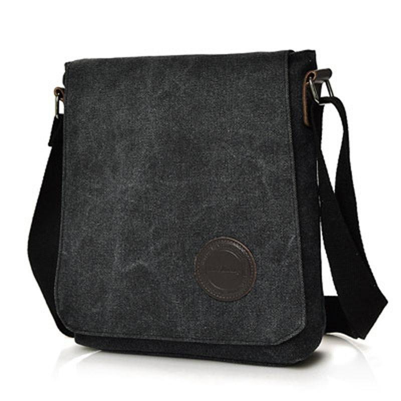 Hot High Quality 2018 Retro Men s Canvas Shoulder Bag Multi compartment  Men s Messenger Bag Large Capacity Casual Men s Handbag-in Crossbody Bags  from ... 31a658c414cd9
