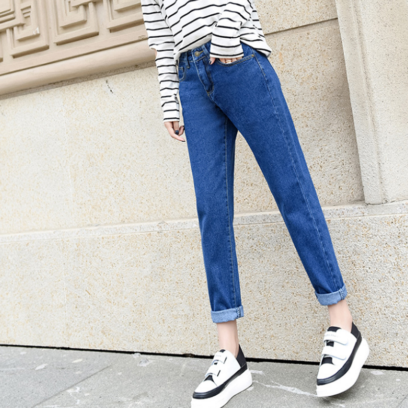 Vintage Mom Jeans High Waisted Retro Women Casual Harem Pants Jeans Loose 2018 Push Up Denim Trousers Women Summer Jean Solid