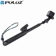 For Go Pro Accessories Smart Pole Handheld Monopod Selfie Stick with remote clip for GoPro HERO5 HERO4 Session HERO 5 4 3+ 3 2