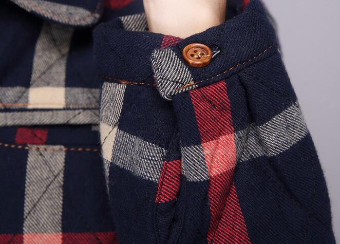 Épaississement De Bleu Femmes Coton xxl Matelassé Lâche Nouvelle Antiques 2019 Chaude Chaud Chemises vert Grille Longue Dans Manières Restauration M Mode La Printemps 1PwqFxxU