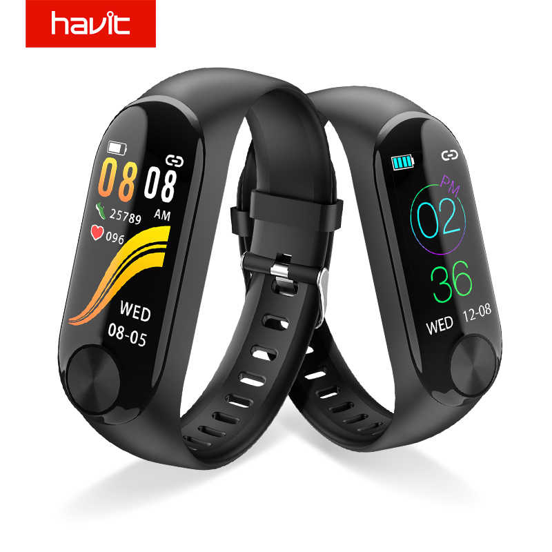 Havit Smart Jam Tangan Cerdas-Multi Olahraga Kebugaran Tracker Gelang Pergelangan Tangan Band Heart Rate Tekanan Darah Real Time Monitor