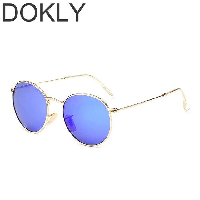 42631b2354822 Dokly Designer Clássico Rodada Óculos De Sol mulheres Retro Vintage John  Lennon Óculos de sol Das
