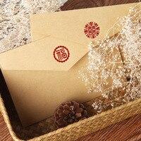 50 יח'\חבילה חום קראפט אריזת Vintage נייר מעטפה עבור רטרו מכתב סיני גלויה כרטיס הזמנה חג מולד אריזת מתנה