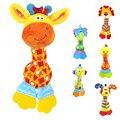 Brinquedo Do Bebê macia 22 cm Animal Dos Desenhos Animados Chocalho Mordedor Squeaker BB Sounder Cedo Educacional Boneca Elefante Girafa Leão Macaco Cão