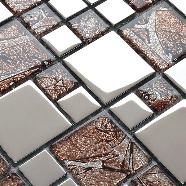 Silberfolie Beschichtung Kristall Glasmosaik HMGM2032B Für Küche Backsplash  Badezimmer Fliesen Flur Esszimmer Wand In Silberfolie Beschichtung Kristall  ...