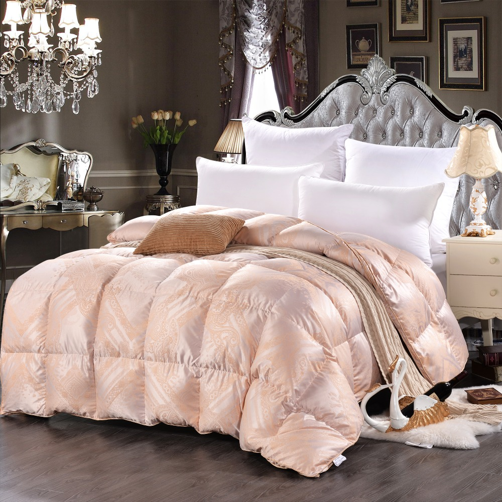 king size 53oz 750 fill power white duck down comforter90 high quality white
