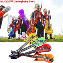 4 PCS 55cm Inflatable PVC Air Guitar Party Accessories Decoration Fun Funny Gadgets Novelty Interesting Toys For Children Gift(China)