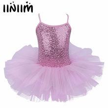0c0962c2f062 iiniim Leotards for Girls Sequins Fancy Lyrical Dancing Class Costumes  Children's Ballet Tutu Dress Dancewear Gymnastic