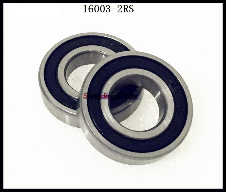 15pcs/Lot 16003-2RS 16003 RS 17x35x8mm Rubber Sealed Deep Groove Ball Bearing Miniature Bearing 5pcs lot 6000 2rs 6000 rs 10x26x8mm rubber sealed deep groove ball bearing miniature bearing