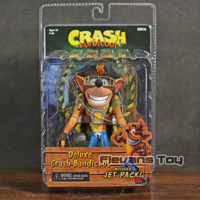 NECA Crash Bandicoot Deluxe Crash with Jet Pack PVC Action Figure Collectible Model Toy
