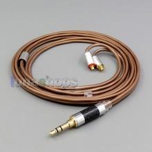 LN006219 3,5 мм 2,5 мм 4,4 мм сбалансированный 99.97% из чистого серебра кабель для Shure se215 se315 se425 se535 Se846 MMCX