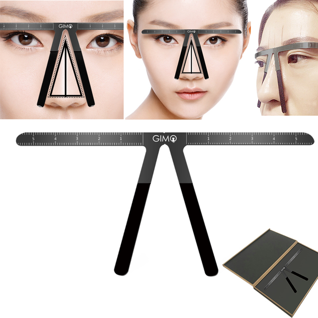 Colorful Eyebrow Ruler Makeup Shaping Position Measure Tools Eyebrow Stencils Maquiagem Ruler Balance Tattoo Stencil Template 4