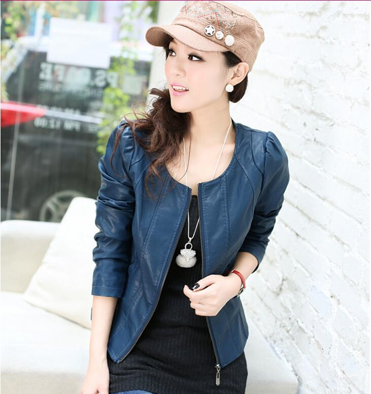 New Women Leather Jackets and Coat Slim European Style Short Faux Leather Jacket Plus Size Leather Coat Women Large Size M-6XL