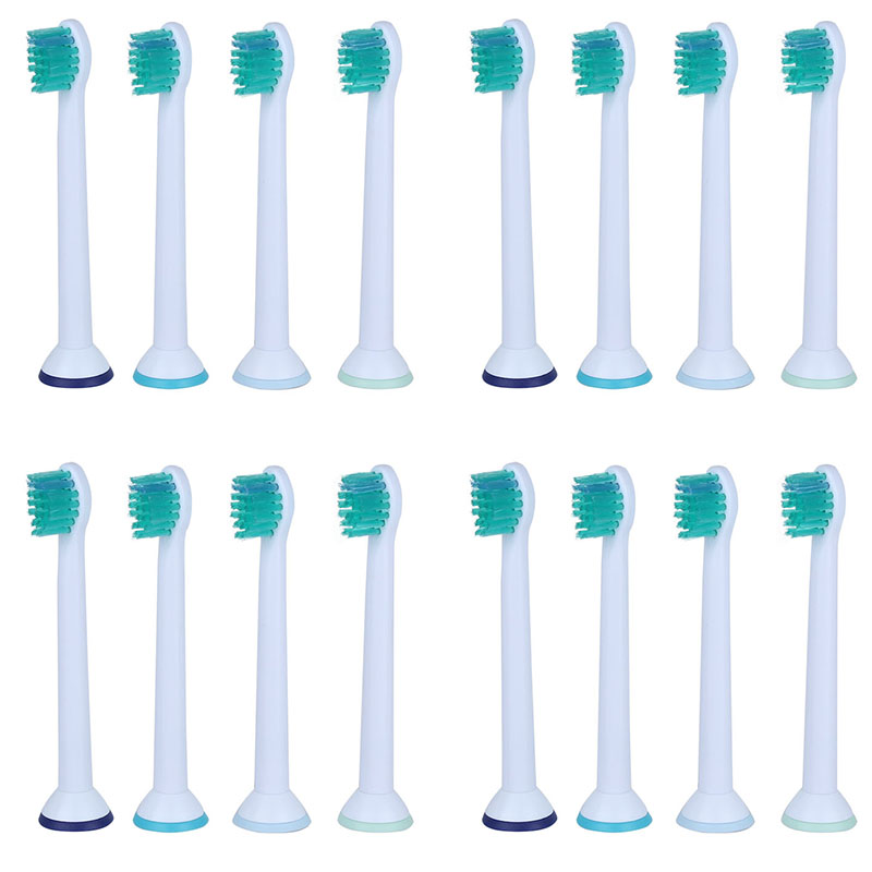16PCs Electric Tooth Brush Heads HX6024 Replacement Heads for Philips Sonicare Toothbrush Soft Bristles 16pcs best sonic electric toothbrush replacement for philips sonicare brush heads hx6064 diamond clean soft bristles black new