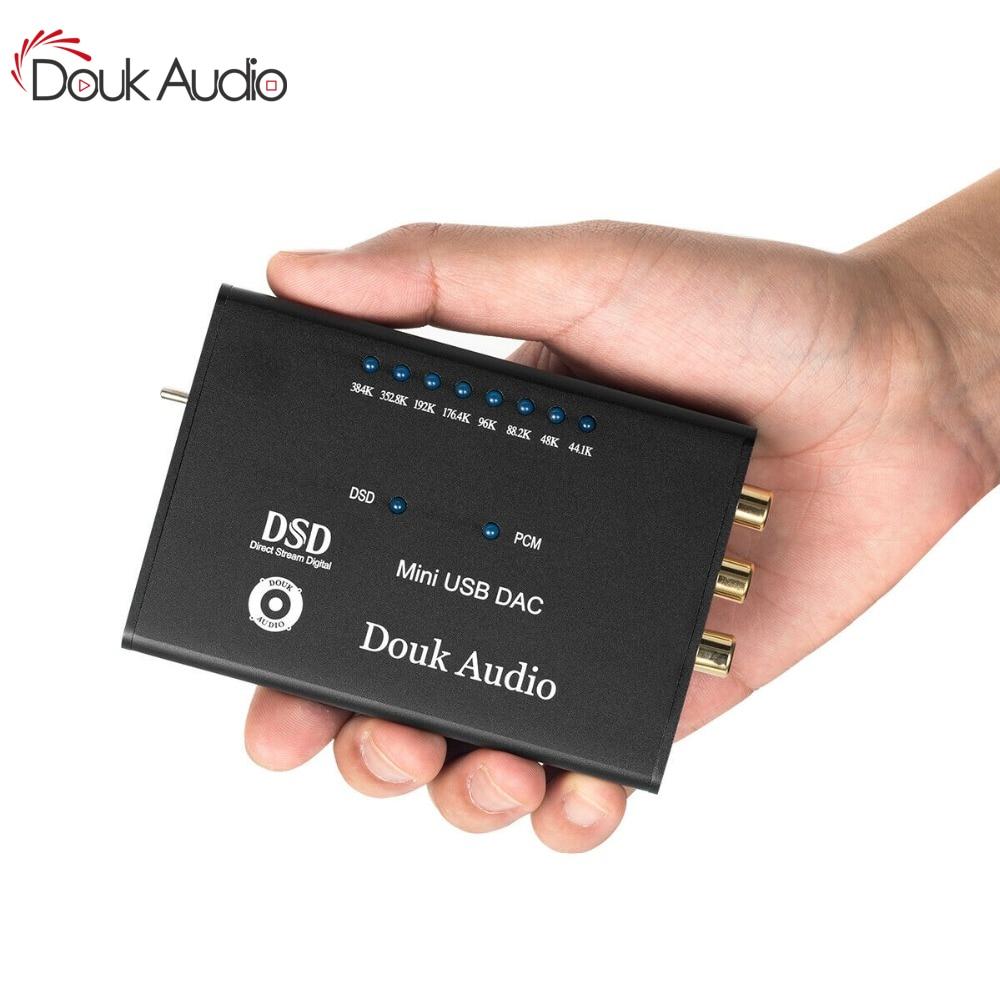 Mini AK4490 XMOS USB Audio Decoder DAC HIFI Headphone Amplifier SPDIF DSD256 5V Desktop Amplifier