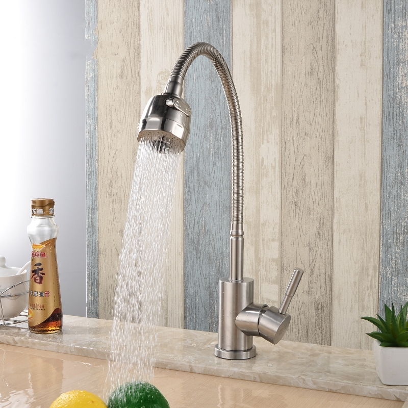 Stainless steel Universal Kitchen mixer faucet Hot and cold water Sink faucet mixer tap with two function sprayerStainless steel Universal Kitchen mixer faucet Hot and cold water Sink faucet mixer tap with two function sprayer
