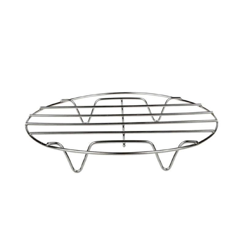 19cm Stainless Steel Round Steamer Rack Pots Streamer Rack Stand Home Kitchen Cooking Tools Accessories