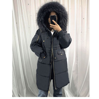 Latest Russian style Womens Winter Jackets Duck Down cotton Parka Long Coats Fur Hood Tops Plus Size Overcoat Thicken Warm