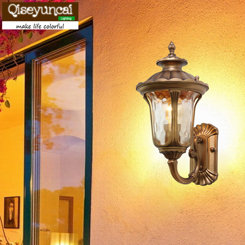 Outdoor wall lamp outdoor balcony corridor door post wall  European style villa courtyard landscape lighting 2016 new european style full copper wall lamp hallway balcony corridor lighting