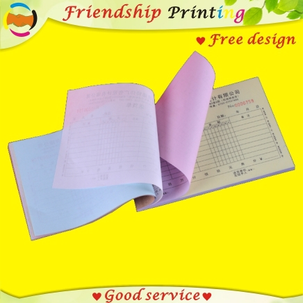 Custom invoice book priinting/custom Receipt books A5 duplicate