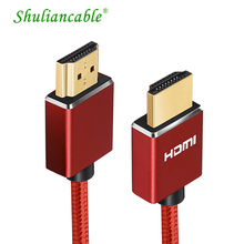 Shuliancable HDMI Cable hdmi to hdmi cable High Speed 1.4 3D 1080p cabel hdmi for HD TV Box Xiaomi Projector PS4 Cable HDMI5m
